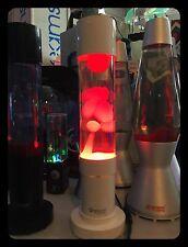LAMPADA LAVA VINTAGE MATHMOS JET WHITE COLLEZIONE RED WAX  LIQUID CLEAR RARE