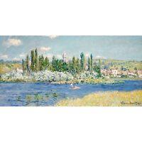 Quadro su Pannello in Legno MDF Claude Monet Vetheuil