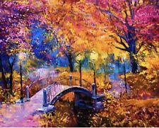 Malen nach Zahlen Leinwand Bild Malerei Bastelset 50x40cm Der Herbst