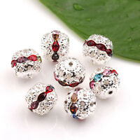Fashion Colorful Crystal Rhinestone Loose Spacer Charm Beads Findings 12x11mm