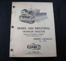 J l CASE 1010 Agricultural AG Crawler Tractor Parts Book Manual Catalog A1020