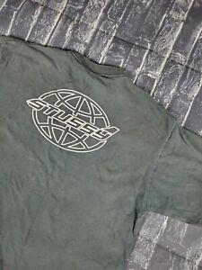 Vintage Stussy TShirt Black XL made in USA distressed single stitch OG Faded