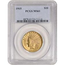 US Gold $10 Indian Head Eagle - PCGS MS61 - Random Date