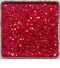 Glitter Glass Mosaic Tiles - Ruby Red - 3/8 inch - 50 Tiles