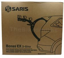 Saris BONES EX 3 803 Bike Car Trunk BLACK Rack Carrier Fits 3 Bikes