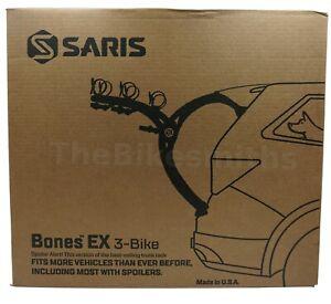Saris BONES EX 3 803 Bike Car Trunk BLACK Rack Carrier Fits 3 Bikes