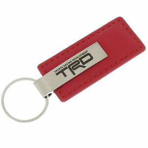 Toyota TRD Leather Keychain (Red)