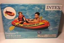 Intex Explorer 200 Inflatable 2 Person River Raft Boat With 2 Oars & Pump