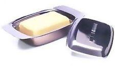 Acier Inoxydable Beurrier avec couvercle support cuisine Réfrigérateur Stockage fromage Table