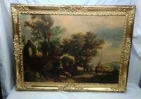 "Large Vintage Ornate Wood Gold Gilt Picture Frame 40"" x 30"" Fits 33"" x 23"""