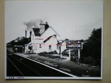 PHOTO  10 X 8 INCHES - CHAPLETON RAILWAY STATION
