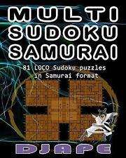 Multi Sudoku Samurai: Multi Sudoku Samurai by Djape (2014, Paperback)
