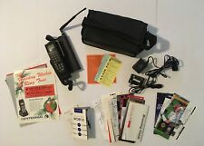Motorola TX400 Vintage Mobile Phone w/ Attache Case Manuals 1990s Cell Cellular