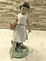 "NAO by Lladro Figurine #1828  ""Barefoot Stroll"" 2014 NIB  Box Damaged"