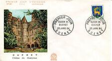 FRANCE FDC - 491 1351B 2 ARMOIRIES DE GUERET 25 1 1964