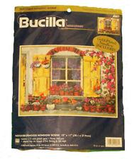 Bucilla Needlepoint Kit Neighborhood Window Scene #4807 Brand New
