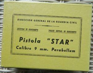🔥 VINTAGE 50's ORIGINAL SPANISH STAR BM 9mm Parabellum PISTOL BOX UNNUMBERED!