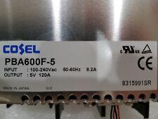 NEW Cosel PBA600F-5 Power Supply 100-240 VAC(input) 5V @ 120A (output) 50-60Hz