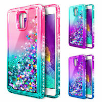 For Samsung Galaxy Note 4 | Glitter Liquid Bling Case Cover + Screen Protector
