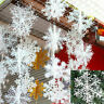30PCS Winter Snowflakes Hanging Window XMAS Christmas Tree Festival Party Decor