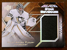 2015/16 MARC-ANDRE FLEURY UD BLACK STAR COVERAGE GAME USED PAD VEGAS SSP 5/5!