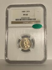 1889 Three Cent Nickel 3cN, Gorgeous Gem Proof, Low Mintage Date, NGC PF65 CAC
