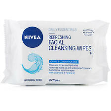 NIVEA DAILY ESSENTIALS REFRESHING FACIAL CLEANSING WIPES 25 *
