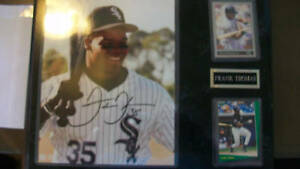 FRANK THOMAS AUTOGRAPHED PLAQUE CHICAGO WHITE SOX