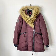 Canada Weather Gear Women's Size Medium Faux Fur Asymmetric Zip Parka Jacket