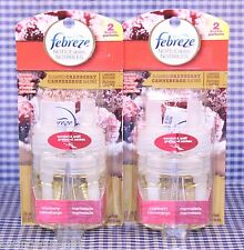 2 Febreze NOTICEables SUGARED CRANBERRY Scented Oil Refills Limited Edition