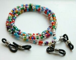 Spectacle/Sun glasses Chain/Cord Bright Mixed Colour 3mm Beads MCFGC2