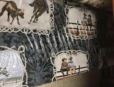 COWBOY UP CX6753-DENI-D  M MILLER  100% Cotton Fabric PRICED BY THE 1/2 YARD