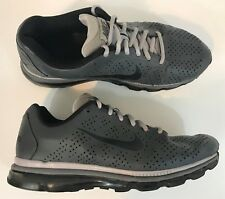 Nike Mens Air Max 2011 Running Shoe Size 11 Gray/Black Leather