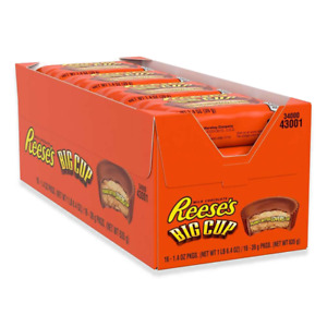 Reeses Reese´s Peanut Butter Cups Big Cup 39g (16 Stück) US-Import (30,43€/kg)