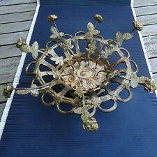 Corbeille Bronze Décors Rel. 7 Roses Tiges vissées 34x16 - 25x8 Cm - 2,450 Kgs