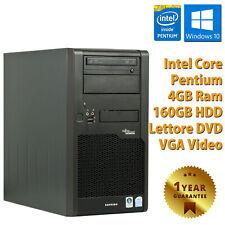 PC COMPUTER DESKTOP FISSO RICONDIZIONATO FUJITSU P2530 DUAL CORE DDR2 4GB 160GB