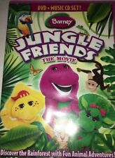 BARNEY JUNGLE FRIENDS THE MOVIE DVD + CD-TESTED-RARE VINTAGE-SHIPS N 24.HOURS