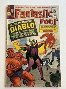 The Fantastic Four #30 Marvel Comics 1964 Jack Kirby & Stan Lee VG-