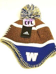 New CFL Winnipeg Blue Bombers  Winter Hat Toque Adidas