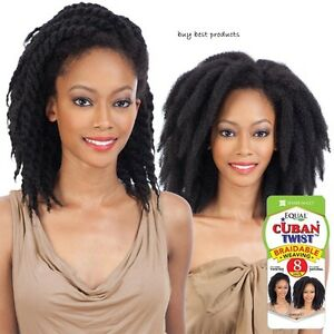 """Freetress Equal Synthetic Afro Hair Weave - CUBAN TWIST 8"""""""