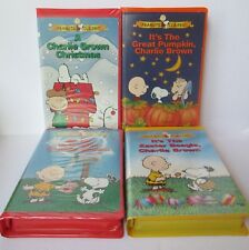lot of 4 charlie brown vhs video tapes christmas great pumpkin valentine easter