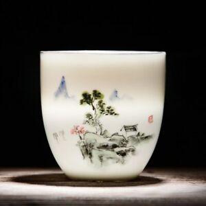 Teacups Drinkware Chinese Kung Fu Tea Cup Ceramic Porcelain Tea Set Accessories