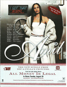 AMIL w/ BEYONCE Rare I got that 2000 PROMO TRADE AD Poster for Money CD MINT USA