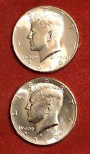 2018 P/ D Kennedy Half Dollars; Gem BU Coins From Mint Rolls.