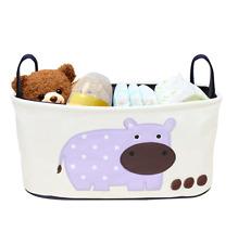 Kinderwagentasche bzw Organizer mit Nilpferd | Platz für 2 Flaschen & mehr [NEU]
