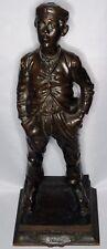 Antique fine art French bronze Le Petit Gavroche Les Miserables L Goyeau c1900