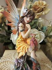 Fairyland FAIRY Figurine wearing Cowboy boots with DRAGON by Pacific Giftware