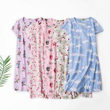 Women's Oversize Sleep Shirts Cartoon Sleepwear 100% Cotton Night Gown T Shirts