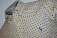 7904-a Mens Polo Ralph Lauren Dress Shirt Size Large Blue Yellow Plaids