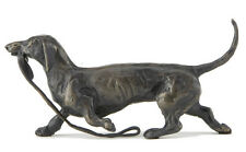 "Sue Maclaurin ""Trotting Dachshund"" Solid Bronze Sculpture - Nelson & Forbes"